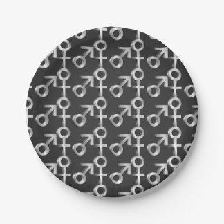 Gender symbols. paper plate