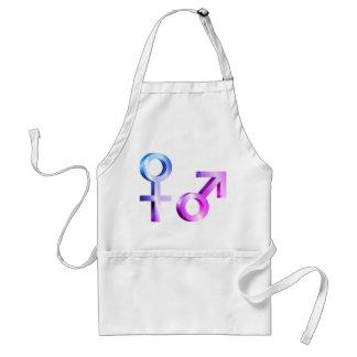 Gender symbols. standard apron