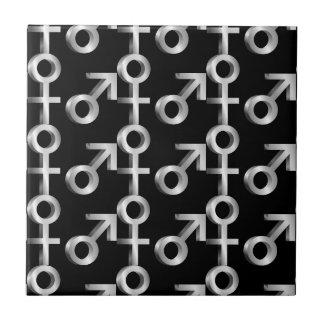 Gender symbols. tile