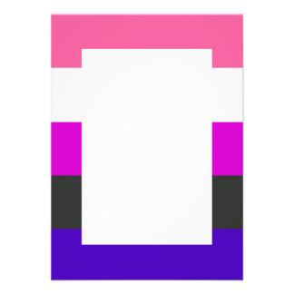 Genderfluid flag personalized invitations