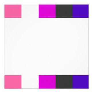 Genderfluid flag custom invitations