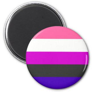 Genderfluid flag magnet