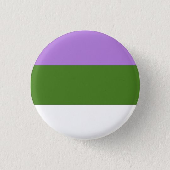 Genderqueer Flag Button