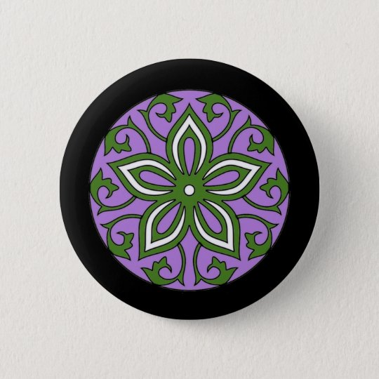 Genderqueer Flag Colours Floral Mandala LGBT 6 Cm Round Badge