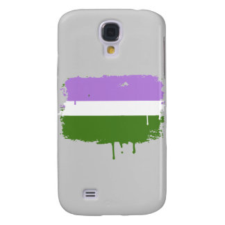 GENDERQUEER FLAG DRIPPING SAMSUNG GALAXY S4 COVER