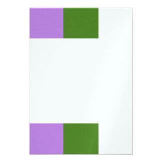 Genderqueer flag personalized invite