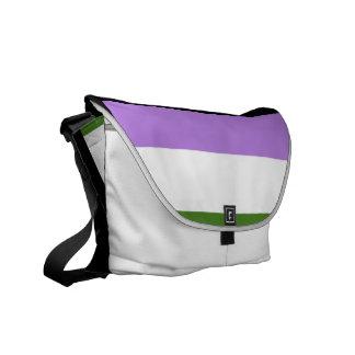 GENDERQUEER FLAG ORIGINAL - png Courier Bag