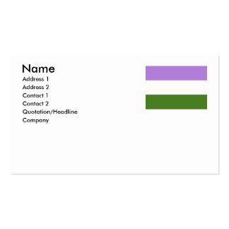 GENDERQUEER FLAG ORIGINAL -.png Pack Of Standard Business Cards