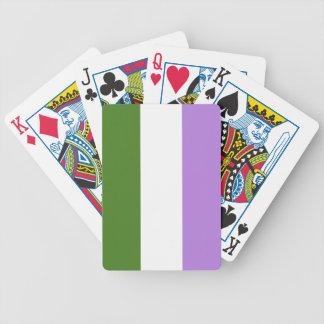 GENDERQUEER FLAG ORIGINAL - png Bicycle Poker Cards