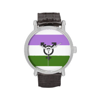 GENDERQUEER FLAG ORIGINAL WITH SYMBOL -.png Wristwatch