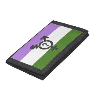 GENDERQUEER FLAG ORIGINAL WITH SYMBOL -.png Tri-fold Wallet
