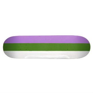 Genderqueer flag skate board