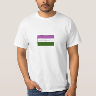 Genderqueer Nonbinary Flag Pride They Pronouns T-Shirt
