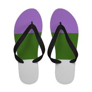 GENDERQUEER PRIDE 2014 PRIDE png Sandals