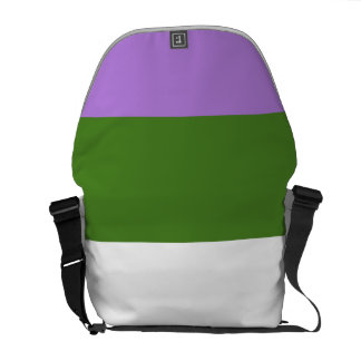 GENDERQUEER PRIDE 2014 PRIDE png Messenger Bags