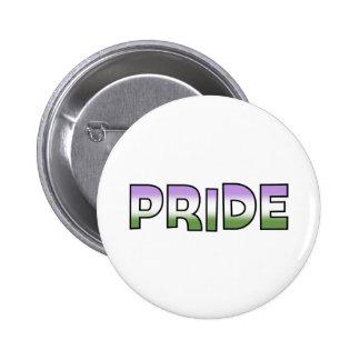 Genderqueer Pride 6 Cm Round Badge