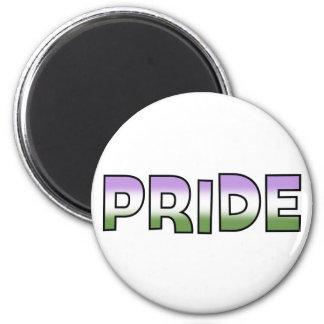 Genderqueer Pride 6 Cm Round Magnet
