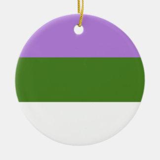 GENDERQUEER PRIDE CHRISTMAS TREE ORNAMENTS