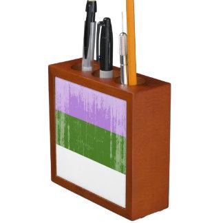 GENDERQUEER PRIDE DISTRESSED DESIGN - 2014 PRIDE.p Pencil/Pen Holder