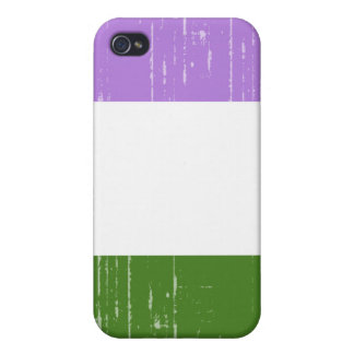 GENDERQUEER PRIDE DISTRESSED DESIGN iPhone 4/4S COVERS