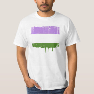 GENDERQUEER PRIDE DISTRESSED DESIGN T-Shirt