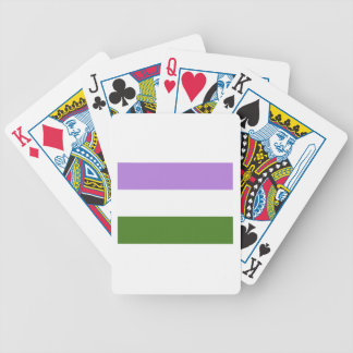 Genderqueer Pride Flag Bicycle Playing Cards
