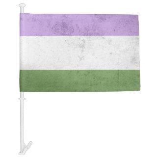 Genderqueer Pride Flag Car Flag
