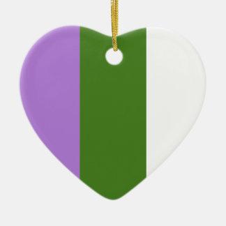 Genderqueer pride flag christmas ornament