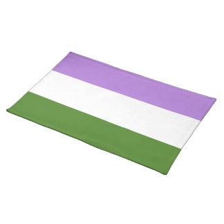 Genderqueer Pride Flag Cloth Placemat