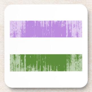 GENDERQUEER PRIDE FLAG -Distressed Coasters