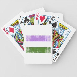 GENDERQUEER PRIDE FLAG -Distressed Playing Cards