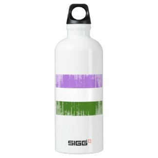 GENDERQUEER PRIDE FLAG -Distressed SIGG Traveller 0.6L Water Bottle