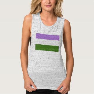 Genderqueer Pride Flag Flowy Muscle Tank Top