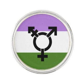 Genderqueer Pride Flag Lapel Pin