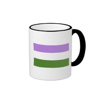 Genderqueer Pride Flag Ringer Mug