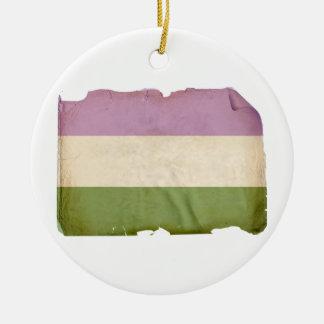 GENDERQUEER PRIDE FLAG - Vintage Christmas Ornaments