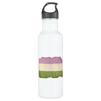 GENDERQUEER PRIDE FLAG - Vintage 24oz Water Bottle