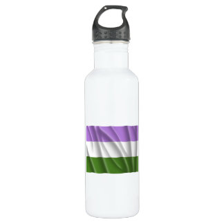 GENDERQUEER PRIDE FLAG -Wavy 710 Ml Water Bottle