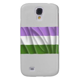 GENDERQUEER PRIDE FLAG -Wavy Galaxy S4 Cases