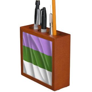 GENDERQUEER PRIDE FLAG WAVY DESIGN - 2014 PRIDE.pn Pencil Holder
