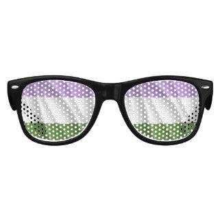GENDERQUEER PRIDE FLAG WAVY DESIGN -.png Kids Sunglasses