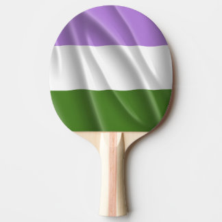 GENDERQUEER PRIDE FLAG WAVY DESIGN -.png Ping Pong Paddle