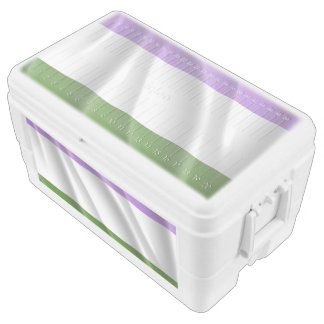 GENDERQUEER PRIDE FLAG WAVY DESIGN -.png Ice Chest