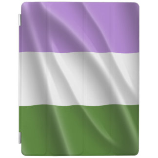 GENDERQUEER PRIDE FLAG WAVY DESIGN -.png iPad Cover