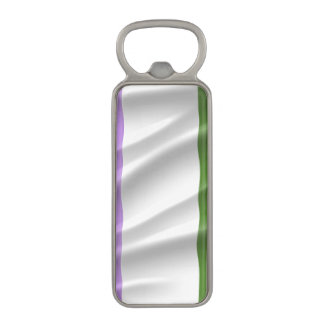GENDERQUEER PRIDE FLAG WAVY DESIGN -.png Magnetic Bottle Opener