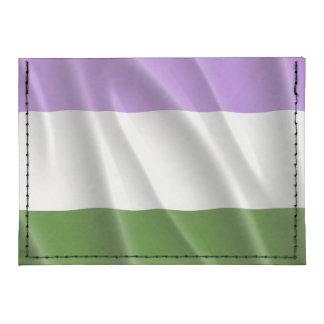 GENDERQUEER PRIDE FLAG WAVY DESIGN -.png Tyvek® Card Case Wallet