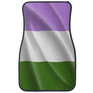 GENDERQUEER PRIDE FLAG WAVY DESIGN - png Car Mat
