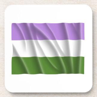 GENDERQUEER PRIDE FLAG -Wavy Drink Coasters