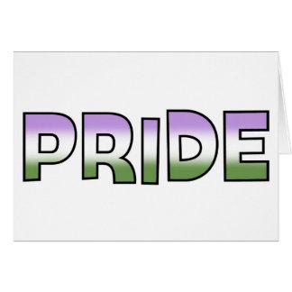 Genderqueer Pride Greeting Card