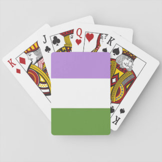 genderqueer pride playing cards